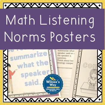 Math Listening Norms Posters