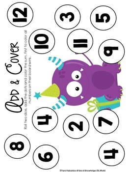 Back to School Math & Literacy Activity Pack Monster Themed