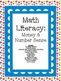 Math Literacy Cards-#1 Money & Number Sense Common Core