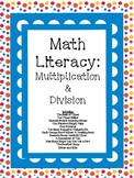 Math Literacy Cards-#2 Multiplication & Division Common Core