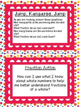 Math Literacy Cards-#4 Fractions Common Core