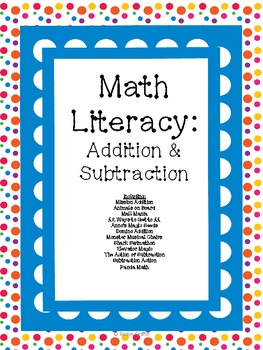 Math Literacy Cards-#6 Addition and Subtraction