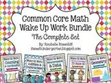 Wake Up Work: Common Core Math Bundle