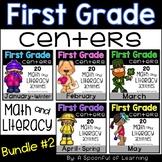 Math & Literacy Centers BUNDLE #2 - First Grade