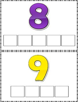 Math Literacy Centers:  Colors and Numbers Letter Tile Fun!