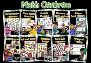 Math & Literacy Centers - Farm Themed