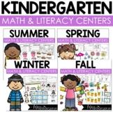 Hands-On Kindergarten Math and Literacy Centers Bundle