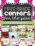 Math and Literacy Centers for the Year {first grade}