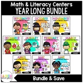 Math & Literacy Centers in Spanish {Year Long Bundle}