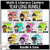 Math & Literacy Centers in Spanish {Year Long Bundle}