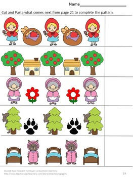fairy tale activities little red riding hood worksheets pre k k special ed. Black Bedroom Furniture Sets. Home Design Ideas