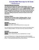 Math Literacy Daily Warmup