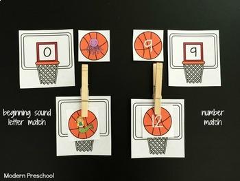 Sports Fan Literacy & Math Centers - prek & kindergarten