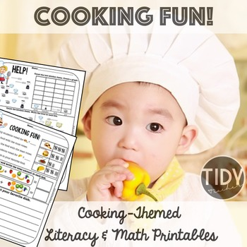 Printable Graphing, Writing & Addition Sheets for First Graders! (Cooking Theme)