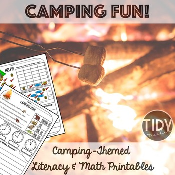 Math & Literacy Printables for First Grade with Camping  Theme!