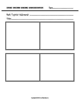 Math & Literacy Project - Create a Comic Strip