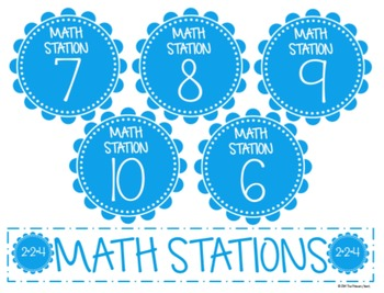 Math & Literacy Station Labels