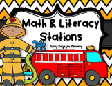 Math & Literacy Stations for Fire Safety Week