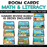 Math & Literacy Summer Review for Boom Cards™