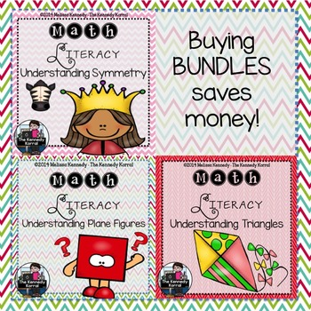 Geometry BUNDLE {Angles, Congruence, Plane Figures, Triangles, Lines, Symmetry}