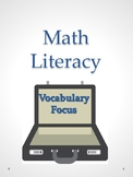 Math Literacy - Vocabulary Focus Activities
