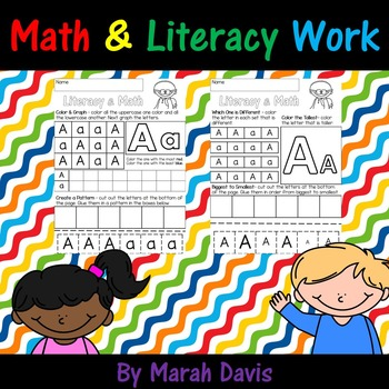 Math & Literacy Work - Pre-k, Kindergarten & First Grade