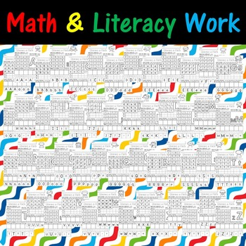 Preschool Letter Practice and Math Concepts - Practice Literacy and Math!