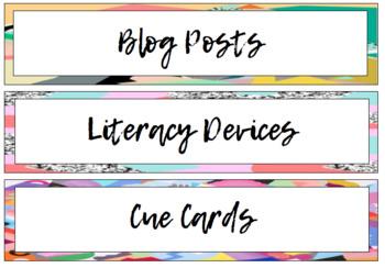 Math | Literacy | Workbook Labels