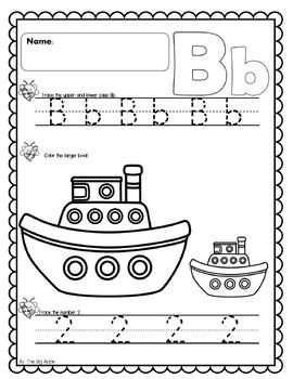 Math & Literacy Worksheets A-Z Set 2
