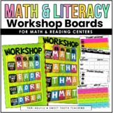 Math & Literacy Workshop Boards