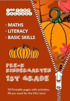 Math, Literacy and Basic Skills Package (1st Term) - Kindergarten - Printable