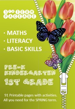Math, Literacy and Basic Skills Package (3rd Term) - Kindergarten - Printable