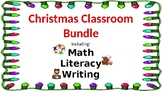 Math, Literacy, and Writing Christmas Bundle