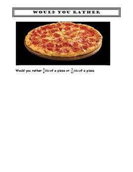 Math Literacy assignment - Would you rather