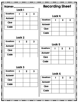 Math Lock Box Escape Room 3rd Grade Reporting Category 1 STAAR Review