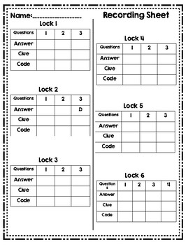 Math Lock Box Escape Room 3rd Grade Reporting Category 2 STAAR Review