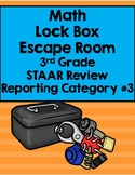 Math Lock Box Escape Room 3rd Grade Reporting Category 3 STAAR Review