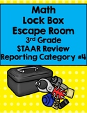 Math Lock Box Escape Room 3rd Grade Reporting Category 4 STAAR Review