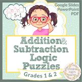 Math Logic Puzzles, Math Enrichment 1st Grade 2nd Grade Distance Learning