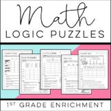 Math Logic Puzzles: 1st grade Enrichment - [Digital & Printable PDF]