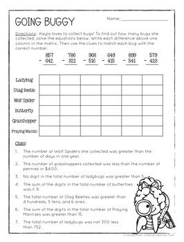 Math Logic Puzzles - 2nd grade Enrichment