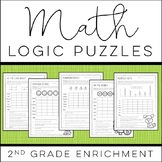 Math Logic Puzzles: 2nd grade Enrichment - [Digital & Printable PDF]
