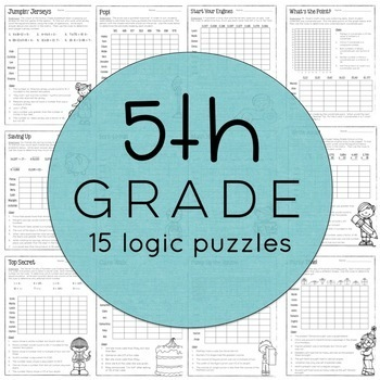 Math Logic Puzzles: 3-5 BUNDLE by Christy Howe | TpT