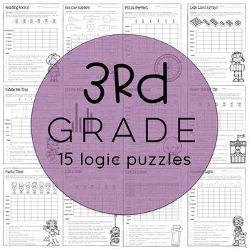 Math Logic Puzzles: 3-5 BUNDLE