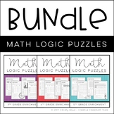 Math Logic Puzzles: 3-5 BUNDLE - [Digital & Printable PDF]