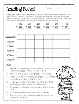 Worksheet Math Logic Puzzles For 3th Grade math logic puzzles 3rd grade enrichment by christy howe tpt enrichment