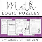 Math Logic Puzzles: 3rd grade Enrichment - [Digital and Pr