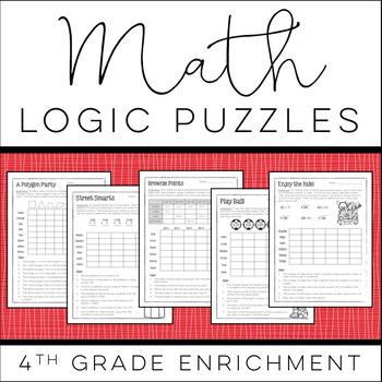 math logic puzzles 4th grade enrichment by christy howe tpt. Black Bedroom Furniture Sets. Home Design Ideas