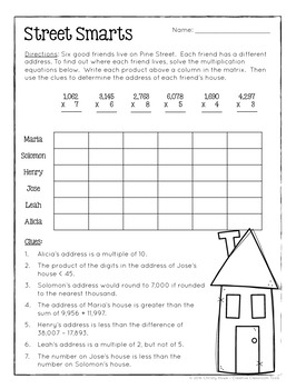 photograph relating to 4th Grade Logic Puzzles Printable identified as Math Logic Puzzles - 4th quality ENRICHMENT