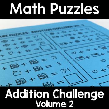 Math Logic Puzzles: Addition CHALLENGE Vol. 2